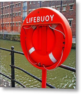 Buoy Foam Lifesaving Ring Metal Print by Luis Alvarenga