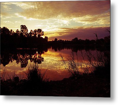 Burning Skies Metal Print