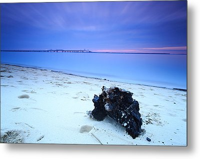 Metal Print featuring the photograph Burnt Driftwood Sunset by Jennifer Casey