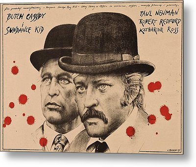 Butch Cassidy And The Sundance Kid Metal Print by Movie Poster Prints
