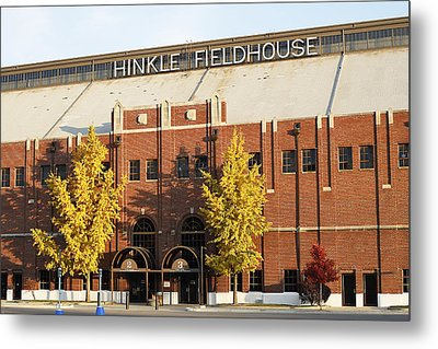 Butler Bulldogs Hinkle Fieldhouse In The Fall Metal Print by Replay Photos