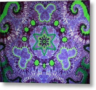 Butterfly Mandala Metal Print by Carl McClellan