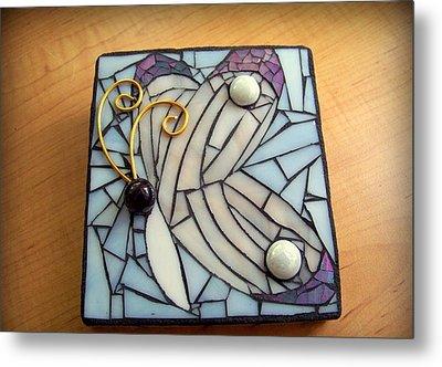 Butterfly Mosaic Metal Print by Melissa McIntyre