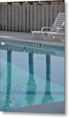 By The Pool Metal Print