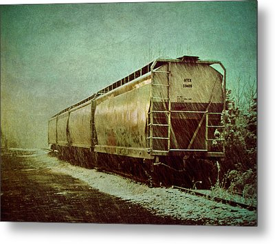 By The Tracks Metal Print