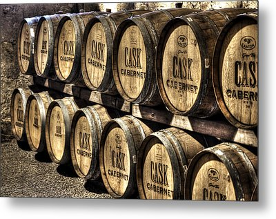 Cabernet Barrels Metal Print by Diego Re