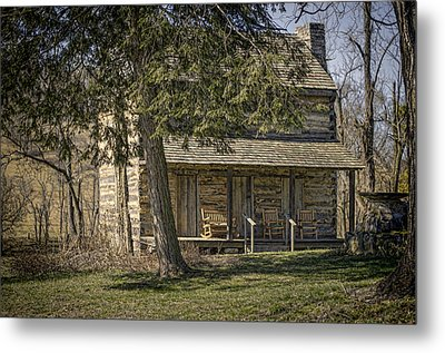 Cabin In The Wood Metal Print by Heather Applegate