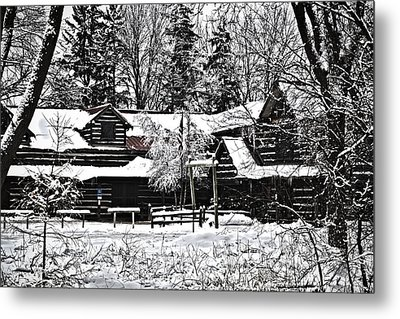 Metal Print featuring the photograph Cabin In The Woods by Deborah Klubertanz
