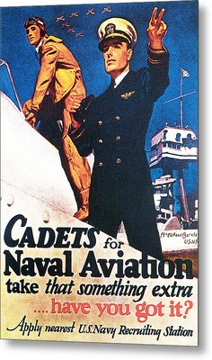 Cadets For Naval Aviation Take That Metal Print by McClelland Barclay