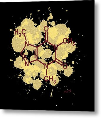 Caffeine Formula Digital Art Metal Print by Georgeta  Blanaru
