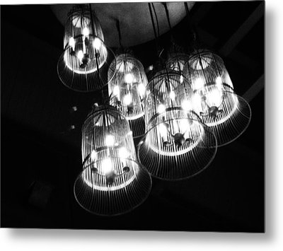 Caged Lights Metal Print by Kaleidoscopik Photography