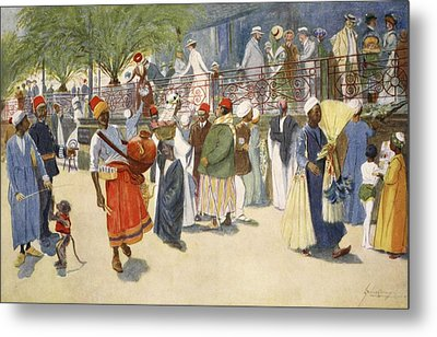 Cairo Curios; Or, The Shepheards Flock Metal Print