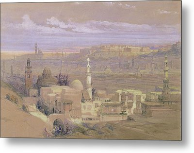 Cairo From The Gate Of Citizenib Metal Print by David Roberts