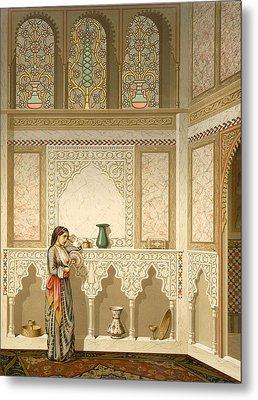 Cairo Interior  Metal Print by Emile Prisse d'Avennes