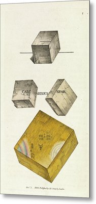 Calcium Carbonate Crystals Metal Print by Royal Institution Of Great Britain