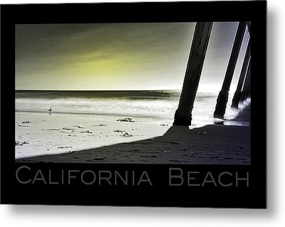 Metal Print featuring the photograph California Beach by Kevin Bergen