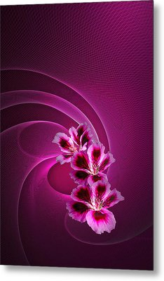 Metal Print featuring the photograph Call Me Pink by Judy  Johnson