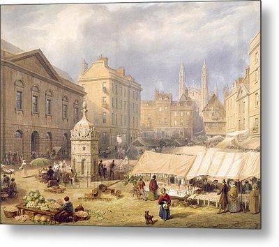 Cambridge Market Place, 1841 Metal Print by Frederick Mackenzie