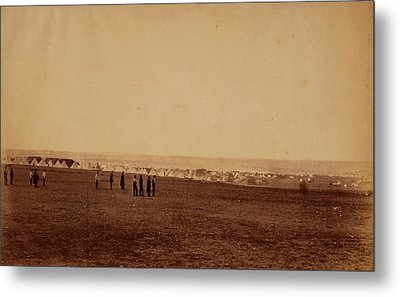 Camp Of The 3rd Division, French Tents In The Distance Metal Print