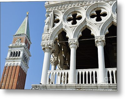 Campanile And Doges Palace Metal Print