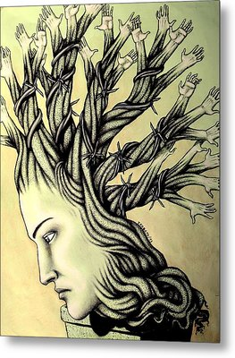 Can Shaping Me But The Essence Never Changes Metal Print by Paulo Zerbato