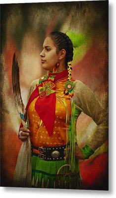 Canadian Aboriginal Woman Metal Print