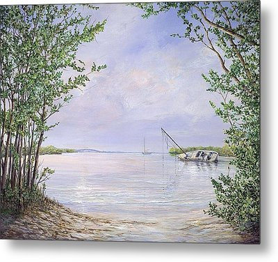 Canaveral Cove Metal Print by AnnaJo Vahle