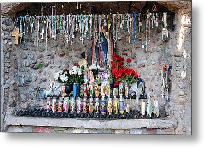 Candels And Rosaries Metal Print by Carla P White
