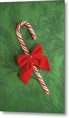 Candy Cane Metal Print by Colette Scharf