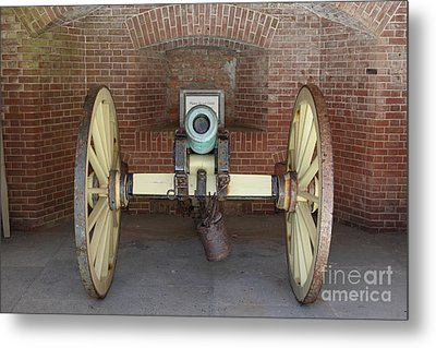 Cannon At San Francisco Fort Point 5d21490 Metal Print by Wingsdomain Art and Photography