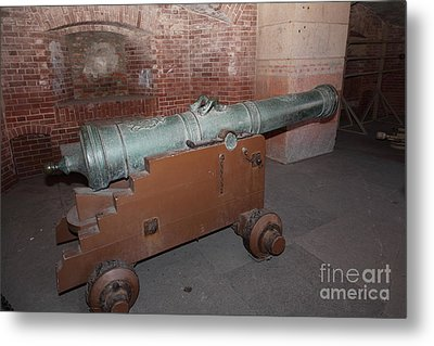 Cannon At San Francisco Fort Point 5d21503 Metal Print by Wingsdomain Art and Photography