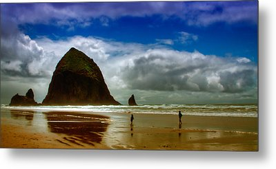 Cannon Beach At Dusk II Metal Print by David Patterson
