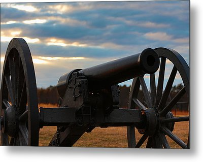 Cannon Of Manassas Battlefield Metal Print