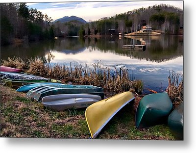 Canoes In Nc Metal Print