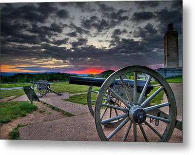 Canon Over Gettysburg Metal Print by Andres Leon