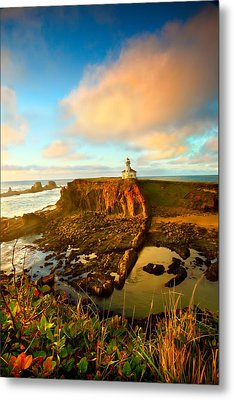 Cape Arrago Lighthouse1 Metal Print by Joe Klune