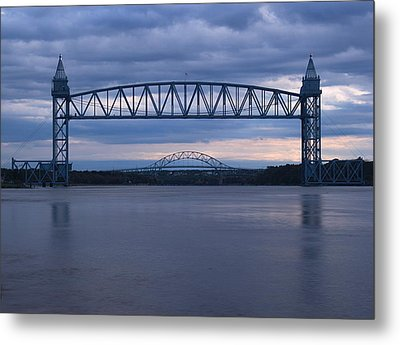 Metal Print featuring the photograph Cape Cod Train Bridge by Amazing Jules