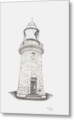Metal Print featuring the drawing Cape Naturalist Lighthouse by Patricia Hiltz