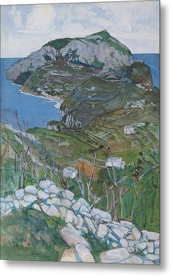 Capri, C.1904 Metal Print by Maurice Greiffenhagen