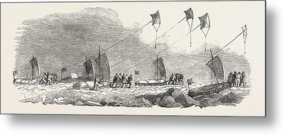 Captain Austins Arctic Expedition Western Division Metal Print
