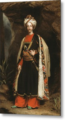 Captain Colin Mackenzie In His Afghan Metal Print by James Sant