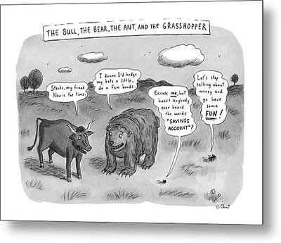 Captionless The Bull Metal Print