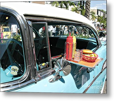Car Hop Metal Print by Nina Prommer