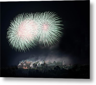 Carcassonne Metal Print by Thierry Boitelle