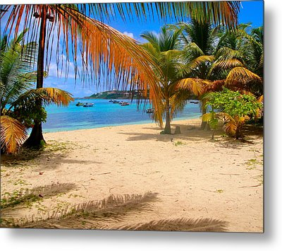 Caribbean Beach In Anguilla Metal Print by Jennifer Lamanca Kaufman
