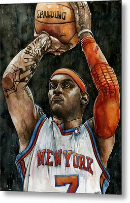 Carmelo Anthony Metal Print by Michael  Pattison