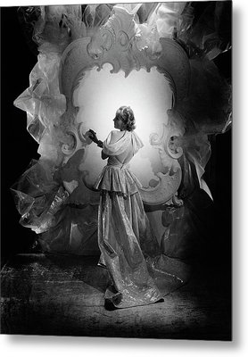 Carole Lombard On A Movie Set Metal Print by George Hoyningen-Huene