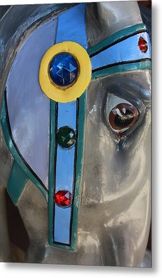Metal Print featuring the photograph Carousel Horse by Diane Alexander