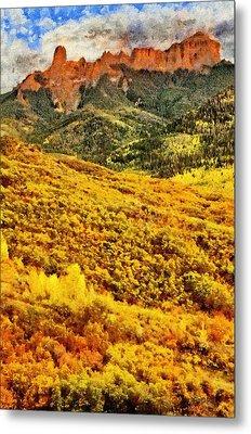 Carpeted In Autumn Splendor Metal Print by Jeff Kolker