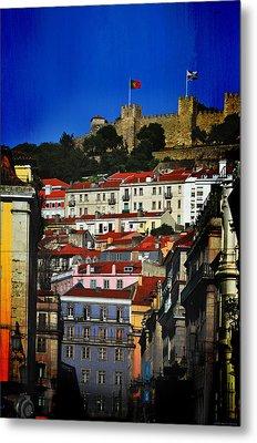 Castelo De Sao Jorge Metal Print